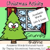 Christmas & Grumpy's Literacy Synonyms, Antonyms and Root Words