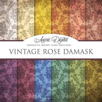 Grunge Damask Digital Paper Textures Background scrapbook