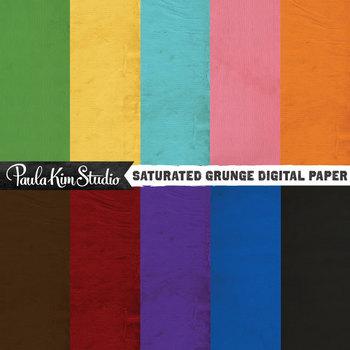 Digital Paper - Saturated Grunge