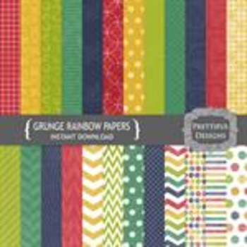 Grunge Rainbow Paper Pack