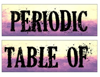 Grunge/ Rocker Periodic Table Banner