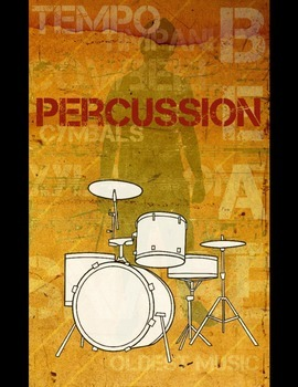 Grunge Style Music Posters Set, Full Size