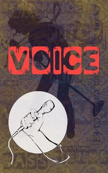 Grunge Style Voice Poster, Full Size