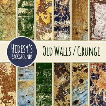 Grunge Wall  Photo Backgrounds / Digital Papers Clip Art Commercial Use