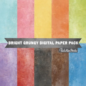 Digital Paper - Grungy Brights