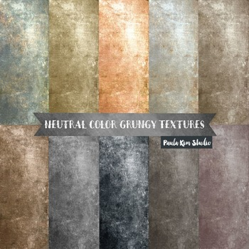 Grungy Digital Paper Textures - Neutral Colors