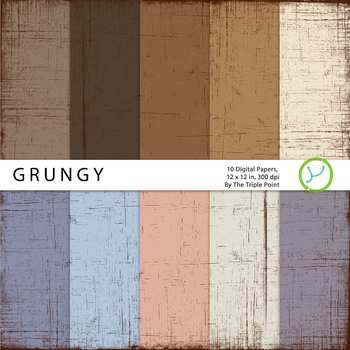 Grungy Paper Background: 10 Digital Papers