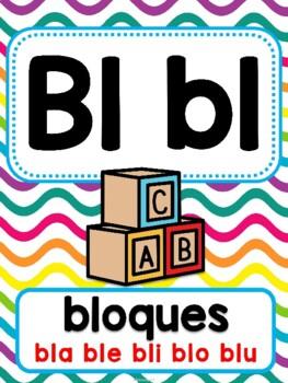 Grupos Consonánticos/Sílabas trabadas - Posters Multicolor