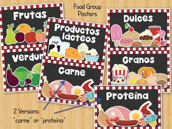 Grupos de Alimentos: Food Groups Sorting Activity and Posters In Spanish
