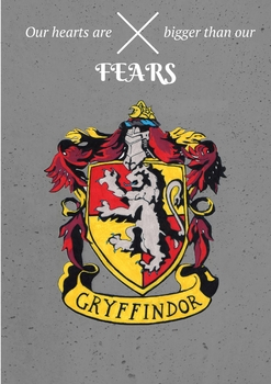 Gryffindor House Crest Poster