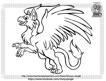 Gryphon coloring page