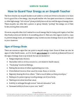 Guard Your Energy -- A Guide for Empath Teachers
