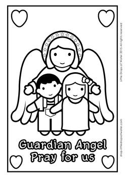 Guardian Angel Coloring - Catholic