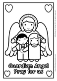 Guardian Angel Coloring - Catholic