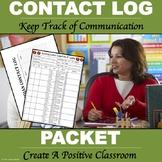 "Parent Contact Log ""Editable Forms"""