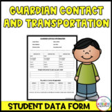 Guardian Contact Information Form