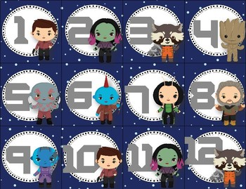 Guardians of the Galaxy Inspired Calendar
