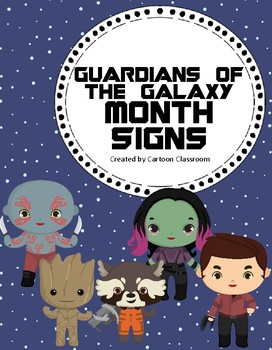 Guardians of the Galaxy Inspired Month Signs