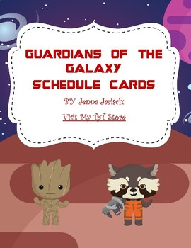 Guardians of the Galaxy Schedule Cards