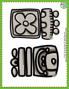Guatemala Bulletin Board Set of 12 Culture and Mayan Culture