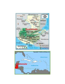 Guatemala Map Scavenger Hunt