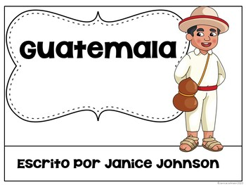 Guatemala Reader & vocab pages in English & Spanish {Bilingual version}
