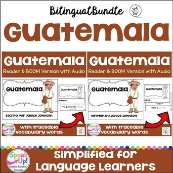 Guatemala Reader & vocab pages in English & Spanish {Bilingual bundle}