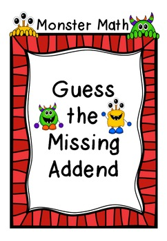 Monster Math: Guess the Missing Addends