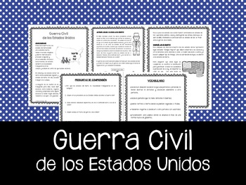 Guerra Civil de los Estados Unidos - Civil War in Spanish