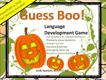 Guess Boo! Language Development Game