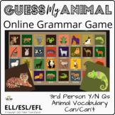Guess Who Animals: ESL Grammar Game: 32 animals, vocabular