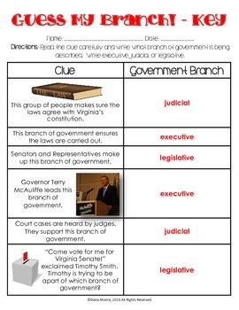Guess My Branch - Virginia's Government Review