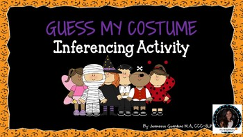Guess My Costume Inferencing Halloween Activity
