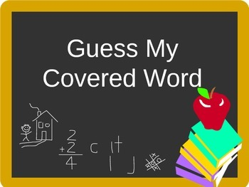 Guess My Covered Word: Apples