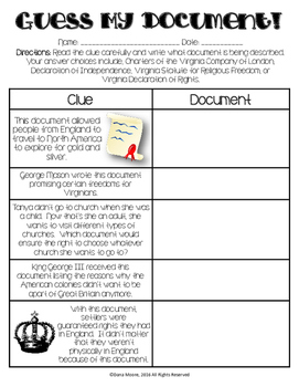 Guess My Document - VS.3c, VS.5a, and VS.6b Review