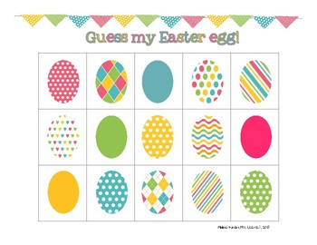 Guess My Easter Egg: 2 Egg-Cellent Receptive Lang Activities