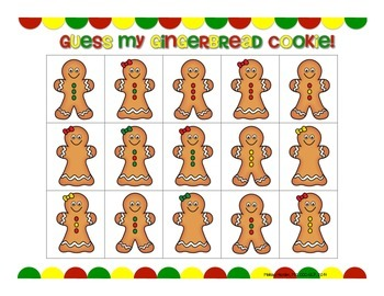 Guess My Gingerbread Cookie: Two Festive Receptive Language Activities