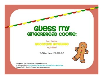 Guess My Gingerbread Cookie: Two Festive Receptive Languag