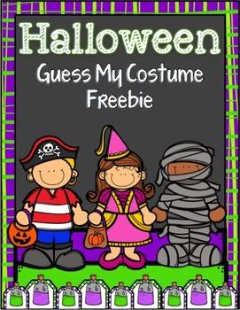 Guess My Halloween Costume {Freebie}