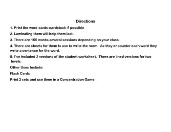 Nouns-Guess My Noun Write the Room Activity-Dolch Noun List-Dinosaurs