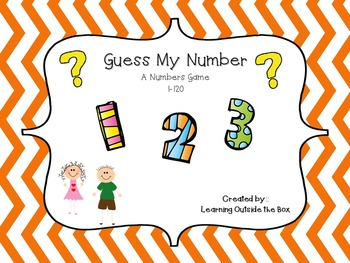 Guess My Number Counting to 120 Number Sense