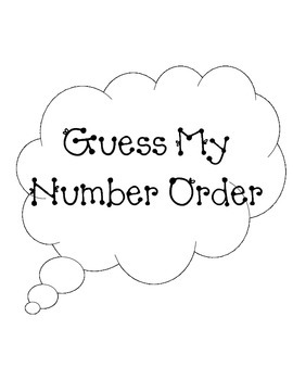 Guess My Number Order