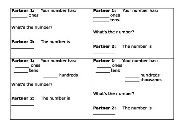 Guess My Number (Place Value)