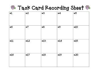 Guess My Number Task Cards