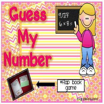 Guess My Number..Flap book