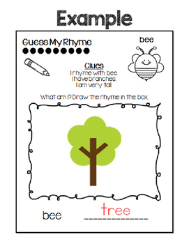 Rhyme and Draw Rhyming Words