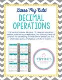 Guess My Rule-Decimal Operations Freebie- Addition