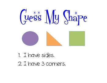 Guess My Shape:  Deductive Reasoning for Primary Students