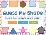 Guess My Shape- Defining Attributes of 2D Shapes Clue Cards w/ QR Codes