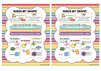 (BIG W) Guess My Shape- Guess Who? Maths Game